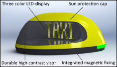 iToplight D-500 The Intelligent Digital Taxi Roof Sign of