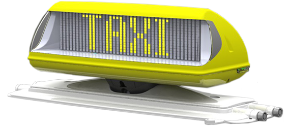 Itoplight D 100 The Intelligent Digital Taxi Roof Sign Of
